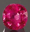 Gems:Faceted, NATURAL, UNTREATED RUBY WITH A.G.T.A. CERTIFICATE. ...