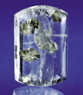 Gems:Cabochons, PYRITE INCLUDED IN WATER CLEAR QUARTZ. ...