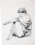 Original Comic Art:Sketches, Barry Smith - Sitting Woman Sketch Original Art (undated)....