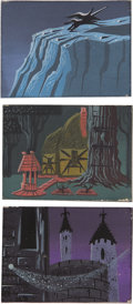 "Animation Art:Production Drawing, Eyvind Earle - ""Sleeping Beauty"" Animation Concept PaintingOriginal Art, Group of 3 (Disney, 1959).... (Total: 3 Items)"