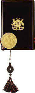 Autographs:Non-American, King Karl of Wurttemberg, Grant of Arms, Signed,...
