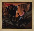 "Animation Art:Production Drawing, Mary Blair - ""The Adventures of Ichabod Crane"" Animation ConceptPainting Original Art (Disney, 1949)...."