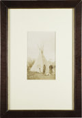Photography:Cabinet Photos, Crow Indian Photograph, Hairy Moccasin & Corner of the Mouth,ca. 1890s....