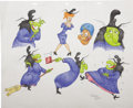 Animation Art:Production Drawing, Virgil Ross - Witch Hazel Model Sheet Original Art (undated)....