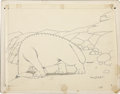Animation Art:Production Drawing, Winsor McCay - Gertie the Dinosaur Production Drawing Animation Art(1914)....