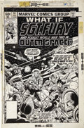 Original Comic Art:Covers, Herb Trimpe and Joe Sinnott - What If #14 ( ... Sgt. Fury HadFought World War Two In Outer Space?) Cover Original Art (Marvel...