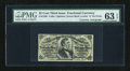 Fractional Currency:Third Issue, Fr. 1295 25c Third Issue with Burke Courtesy Autograph PMG Choice Uncirculated 63 EPQ....