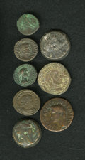 Ancients:Ancient Lots  , Ancients: Lot of eight miscellaneous ancient bronze coins....(Total: 8 coins)