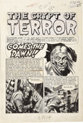 "Original Comic Art:Splash Pages, Jack Davis - Haunt of Fear #26 ""Comes the Dawn"" Splash PageOriginal Art (EC, 1954)...."
