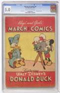 Golden Age (1938-1955):Funny Animal, March of Comics #4 Donald Duck (K. K. Publications, Inc., 1947) CGCVG/FN 5.0 Cream to off-white pages....