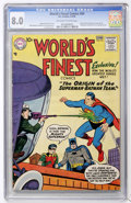 Silver Age (1956-1969):Superhero, World's Finest Comics #94 (DC, 1958) CGC VF 8.0 Off-white to white pages....