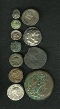 Ancients:Ancient Lots  , Ancients: Lot of eleven miscellaneous ancient coins.... (Total: 11 coins)