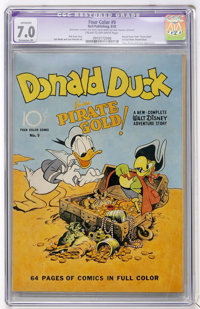 Four Color #9 Donald Duck (Dell, 1942) CGC Apparent FN/VF 7.0 Extensive (P) Cream to off-white pages