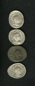 Ancients:Ancient Lots  , Ancients: Lot of four AR and BI double denarii.... (Total: 4 coins)