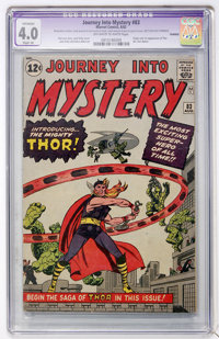 Journey Into Mystery #83 (Marvel, 1962) CGC Apparent VG 4.0 Slight (A) Off-white to white pages