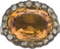 Estate Jewelry:Rings, Victorian Topaz, Diamond, Silver-Topped Gold Ring. ...
