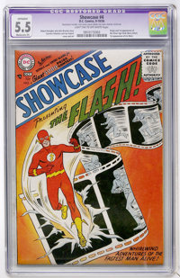 Showcase #4 The Flash (DC, 1956) CGC Apparent FN- 5.5 Moderate (P) Light tan to off-white pages