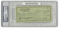 Autographs:Checks, 1961 Walter Alston Signed Check, PSA Authentic. In his only major league appearance, Walter Alston struck out after replaci...