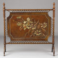 Furniture , A LEATHER FIRE SCREEN. Early 20th Century. 44 x 43 inches (111.8 x 109.2 cm). ...
