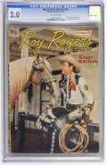 Golden Age (1938-1955):Western, Roy Rogers Annual (Canadian) #nn (Wilson Publishing, 1947) CGC GD 2.0 Off-white pages....