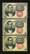 Fractional Currency:Fifth Issue, Fr. 1265 10c Fifth Issue. Two Examples. VF. Fr. 1266 10c FifthIssue VF.. ... (Total: 3 notes)