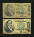 Fractional Currency:Fourth Issue, Fr. 1379 50c Fourth Issue Dexter. Two Examples. Good or Better.... (Total: 2 notes)