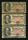Fractional Currency:Fifth Issue, Fr. 1381 50c Fifth Issue. Three Examples. Very Good.... (Total: 3notes)