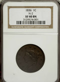 Large Cents, 1836 1C XF40 Brown NGC. N-2. NGC Census: (1/124). PCGS Population(2/90). Mintage: 2,111,000. Numismedia Wsl. Price for NG...
