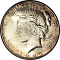 Peace Dollars, 1927-S $1 MS65 NGC. CAC....