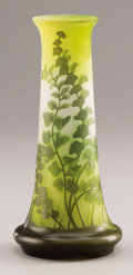 Art Glass:Galle, A FRENCH ART GLASS VASE. Veuve Emile Gallé, Nancy, France, Early20th Century. Marks: (star) Gallé . 9-1/2 inches (24.1 ...