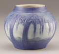 Ceramics & Porcelain, American:Modern  (1900 1949)  , AN AMERICAN ART POTTERY VASE. Painted by Sadie Irvine for NewcombCollege, New Orleans, Louisiana, Circa 1920. Marks: NC...
