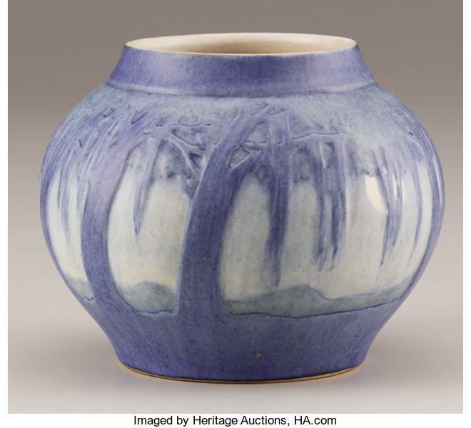 An American Art Pottery Vase Painted By Sadie Irvine For Lot