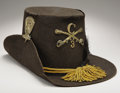 "Military & Patriotic:Civil War, US M1858 Enlisted Man's Dress Hat, Familiarly Known as the ""Hardee"" Hat, this Scarce Piece of US Enlisted Regulation Headgear ..."