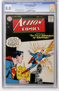 Silver Age (1956-1969):Superhero, Action Comics #223 (DC, 1956) CGC VF 8.0 Cream to off-white pages....