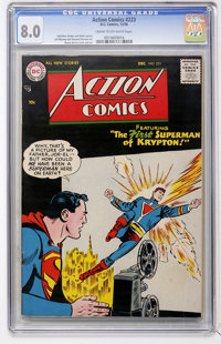 Action Comics #223 (DC, 1956) CGC VF 8.0 Cream to off-white pages