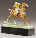 Ceramics & Porcelain, AN ENGLISH BONE CHINA EQUESTRIAN GROUP. Modeled by Doris Lindner for Royal Worcester, England, 20th Century. Inscribed: T...