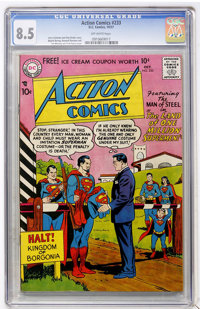 Action Comics #233 (DC, 1957) CGC VF+ 8.5 Off-white pages