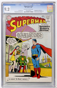Superman #141 (DC, 1960) CGC NM- 9.2 Off-white to white pages