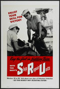 "Movie Posters:War, World War II Poster (U.S. Navy, 1943). One Sheet (28"" X 42"").""Enlist Your Skill for Victory."" War...."