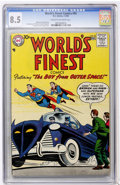 Silver Age (1956-1969):Superhero, World's Finest Comics #92 (DC, 1958) CGC VF+ 8.5 Cream to off-white pages....
