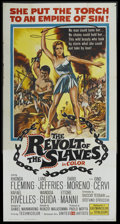 "Movie Posters:Adventure, The Revolt of the Slaves (United Artists, 1961). Three Sheet (41"" X81""). Adventure...."
