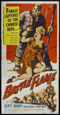 "Movie Posters:War, Battle Flame (Allied Artists, 1959). Three Sheet (41"" X 81"").War...."