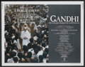 "Movie Posters:Academy Award Winner, Gandhi (Columbia, 1982). Half Sheet (22"" X 28""). Academy AwardWinner...."