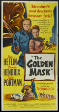 "Movie Posters:Drama, The Golden Mask (United Artists, 1953). Three Sheet (41"" X 81""). Drama...."