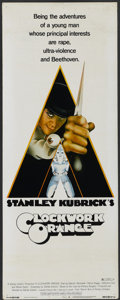 "Movie Posters:Science Fiction, A Clockwork Orange (Warner Brothers, 1971). Insert (14"" X 36"").Science Fiction...."