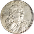 Errors, 2000-P $1 Sacagawea Dollar--Double Denomination on Struck Maryland Quarter--MS67 PCGS....