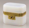 Decorative Arts, Continental:Other , A SMALL JADEITE BOX. 4-1/8 inches (10.5 cm) long. ...