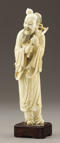 Asian:Japanese, A JAPANESE IVORY FIGURE OF A SAGE. 20th Century. 11-3/8 inches(28.9 cm) high. ...