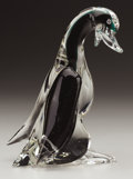 Art Glass:Other , AN ITALIAN GLASS DUCK. Murano, 1950s. 7-3/4 inches (19.7 cm) high....