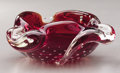 Art Glass:Other , AN ITALIAN GLASS ASHTRAY. Murano, 1950s. 6-1/4 inches (15.9 cm) long. ...